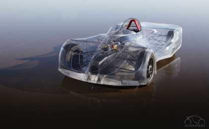 Американские школьники построили электрокар с прозрачным кузовом